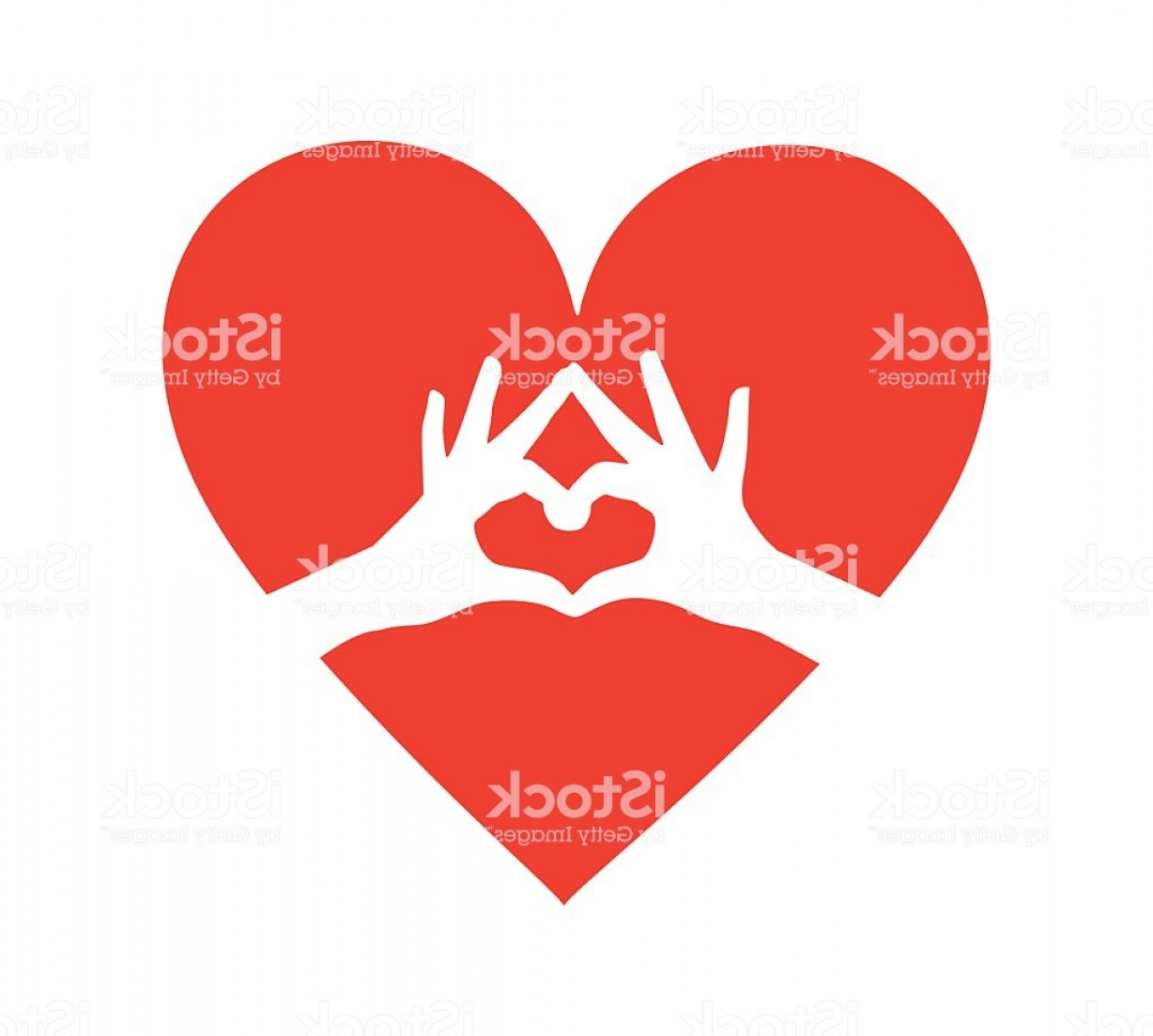 Vector Vector Heart Shaped Hands: Heart With Heart Shaped Hands Inside Vector Gm