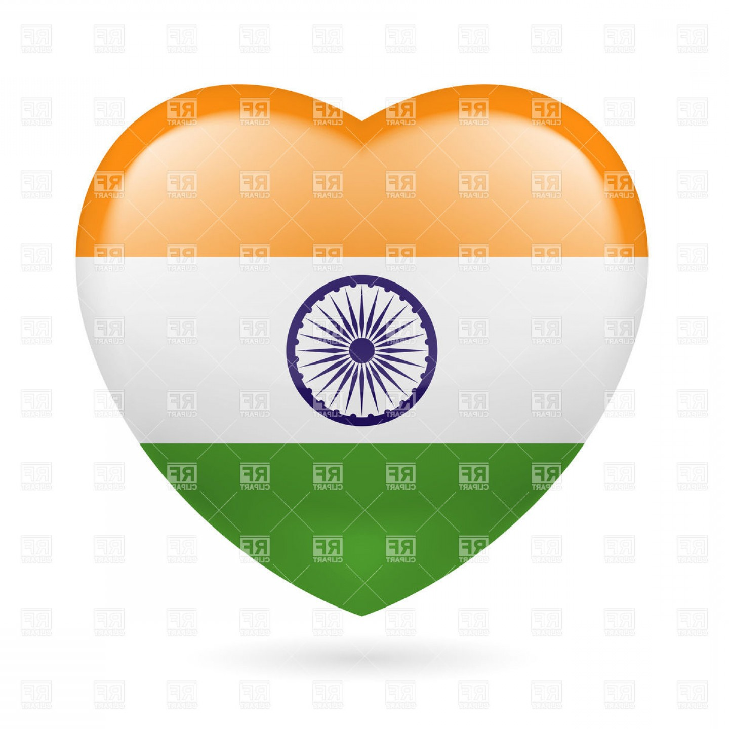 India Flag Vector: Heart With Indian Flag Colors I Love India Vector Clipart