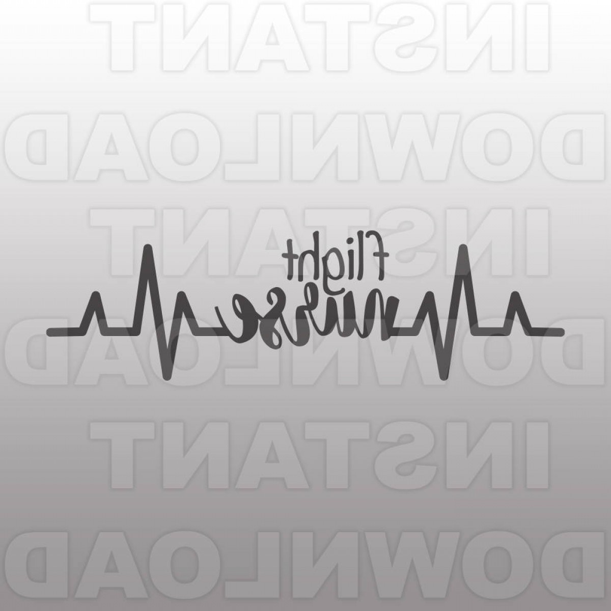 Nurse Vector Art SVG: Heartbeat Pulse Ekg Strip Flight Nurse