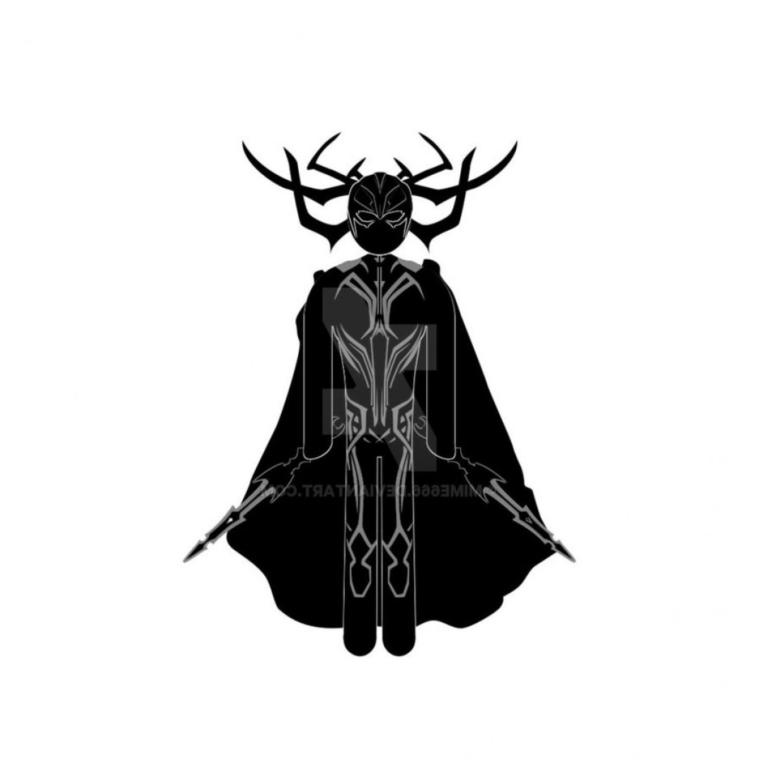 Thor Vector Black: Hela Vector From Thor Ragnarok