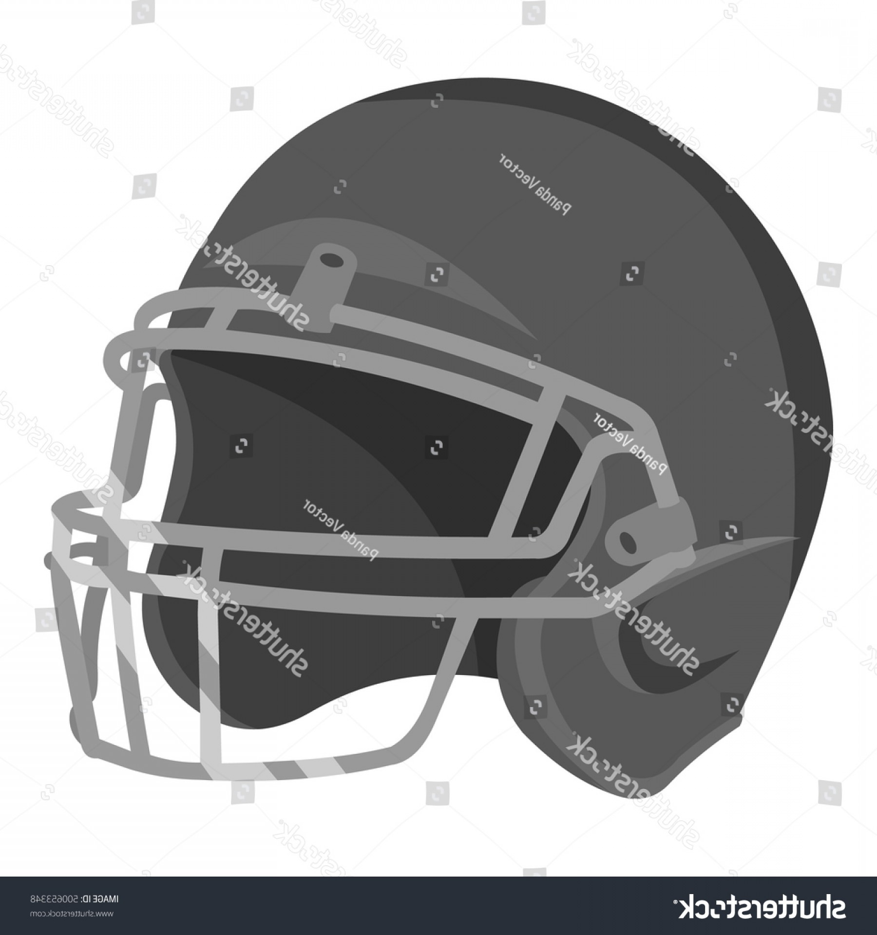 Seahawks Helmet Vector: Helmet Icon Monochrome Single Sport Big