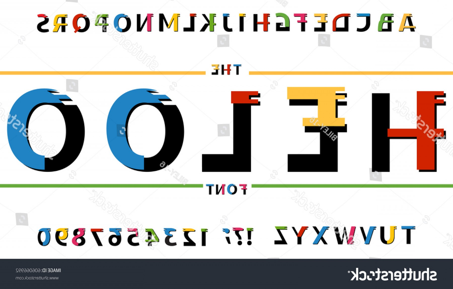 ABC News Logo Vector: Heloo Abc Latinfont Letter English Alphabet