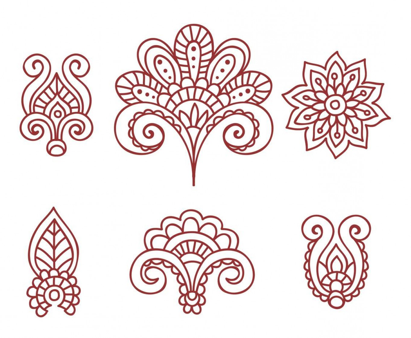 Vector Art Henna: Henna Tattoo Floral Ornamnet Vector