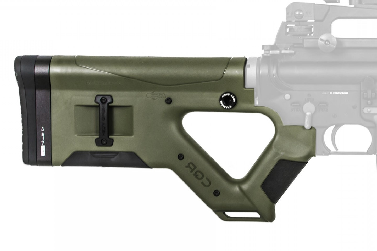 Kriss Vector AR-15 Stock Adapter: Hera Arms Cqr Ar M Featureless Stock Od Green