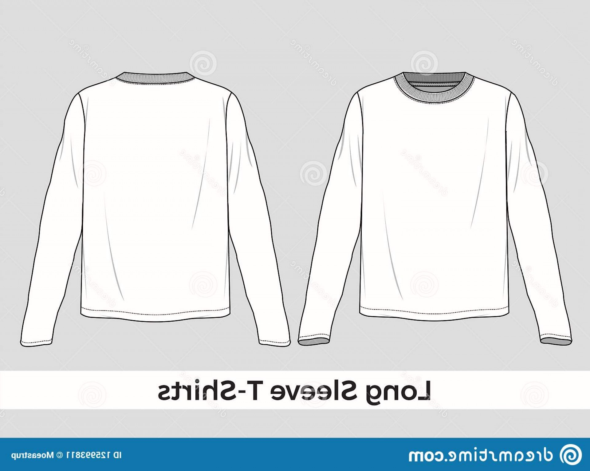 Long Sleeve Jersey Vector Template: Here You Got Vector Long Sleeve T Shirt Silhouette Perfect Product Instructions As Template Long Sleeve T Shirt Image