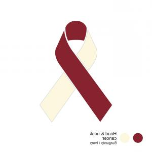 Cool Awareness Ribbon Vector: Head And Neck Cancer Ribbon Vector