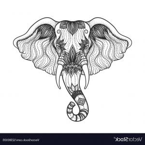 Boho Animal Vectors: Animal Drawing Style Boho Icon Vector