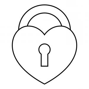 Heart Lock Vector: Stock Illustration Heart Lock With Key