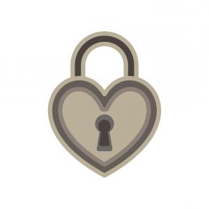 Heart Lock Vector: Heart Lock Line Icon Love Sign And Symbol Love Vector