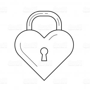 Heart Lock Vector: Stock Photo Cute Seamless Pattern Valentines Day With Heart Lock Key Love Romance