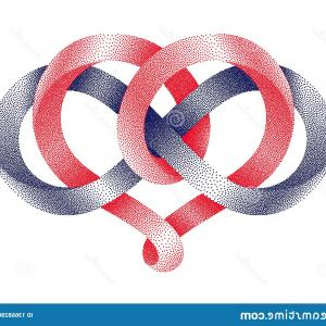 Vector Infinity Symbol Hearts: Love Word With Infinity Symbol Hand Drawn Heart Vector