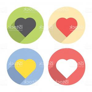 Sign Shapes Vector Art: Heart Shape Love Symbol Flat Icons Set Gm
