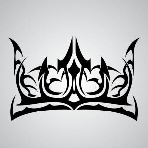 European Crown Vector: Heart With A Crown