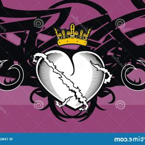 Tribal Lion Vector Format: Heraldic Heart Tribal Tattoo Background Vector Format Very Easy To Edit Image
