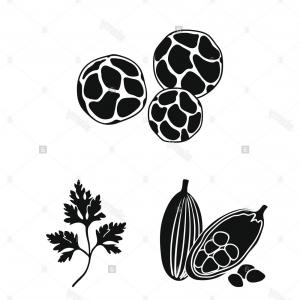 Pontiac Symbol Vector: Herb And Spices Black Icons In Set Collection For Designdifferent Kinds Of Seasonings Vector Symbol Stock Illustration Image