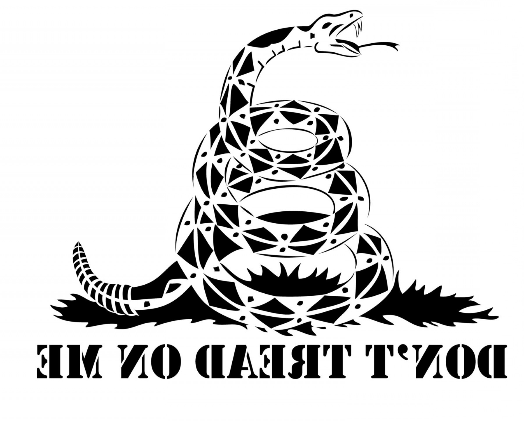 Gadsden Flag Vector Art: High Heat Dont Tread On Me Snake Vinyl