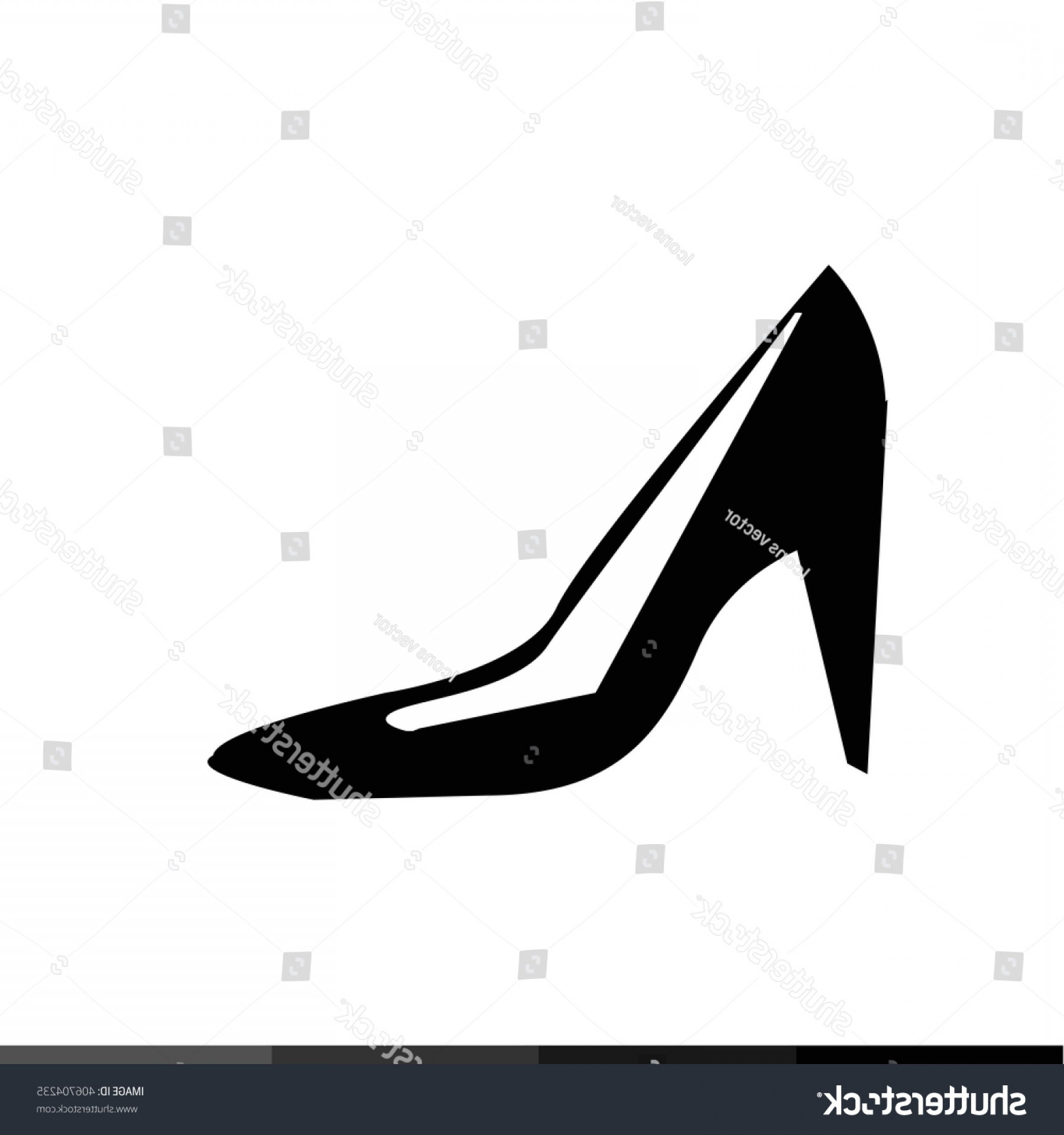 Silhouette Hee High Vector Lsitleetios: High Heel Shoes Icon Illustration Design