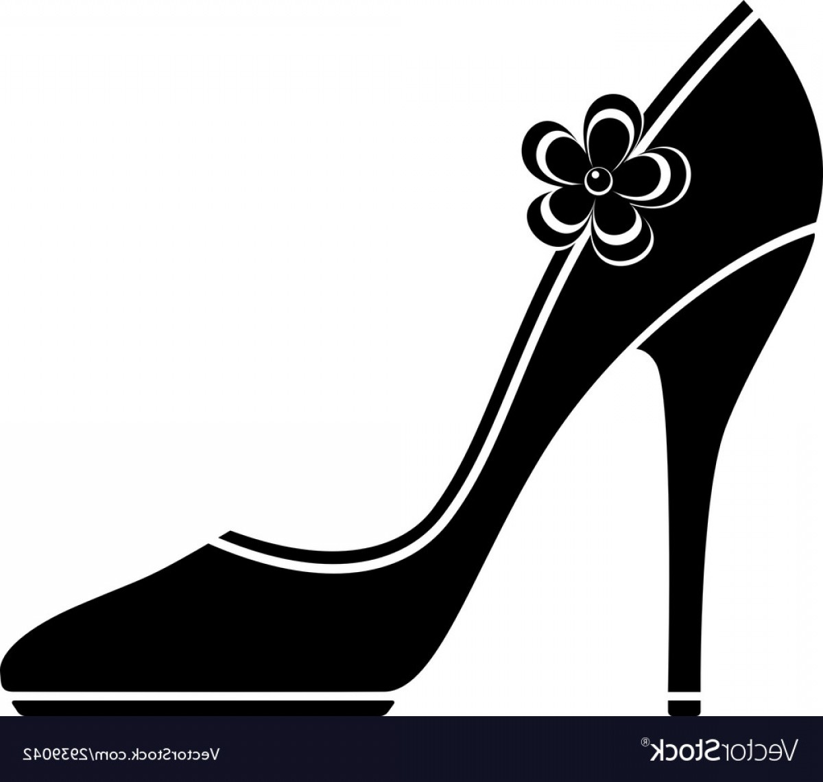Silhouette Hee High Vector Lsitleetios: High Heel Shoes Silhouette Vector