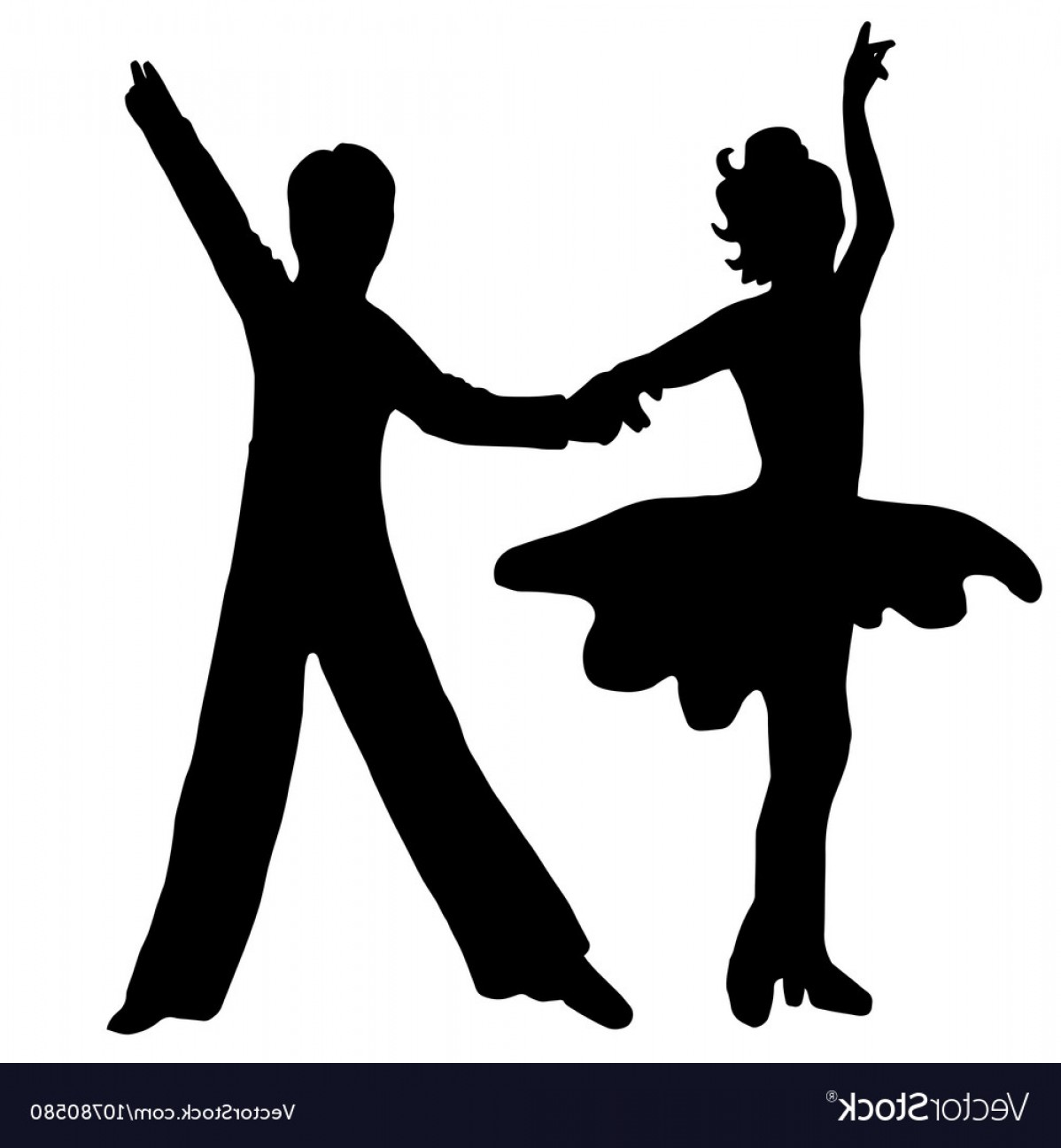 Vector Swing Dancers: High Quality Original Pair Kids Dance Isolated On Vector