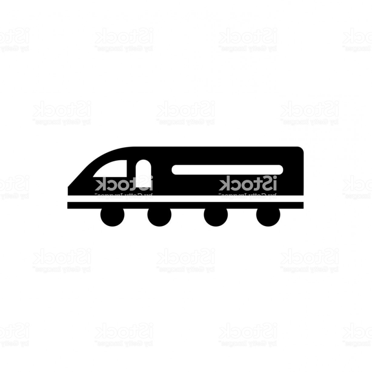 Railroad Logos Vector Format: High Speed Train Icon Vector Sign And Symbol Isolated On White Background High Gm