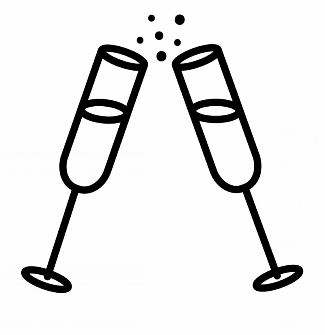 Vector Champagne Party: Hihhmwwafter Party Vector Graphic Champagne New Year Icon
