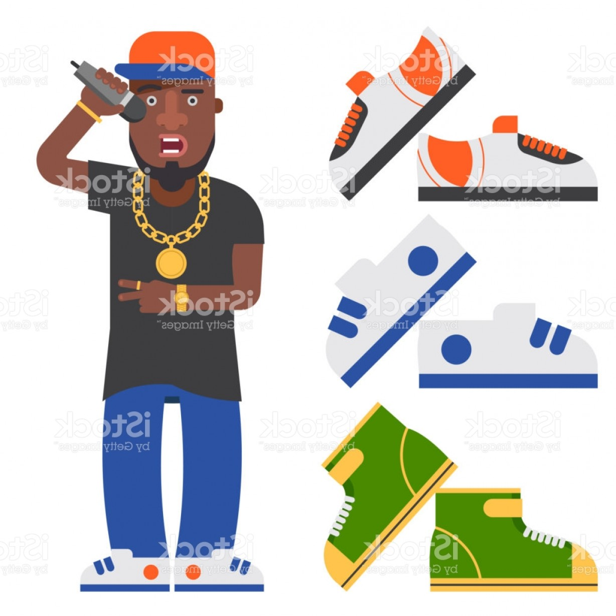 Musician Person Vector: Hip Hop Man Accessory Musician Vector Accessories Microphone Breakdance Expressive Gm