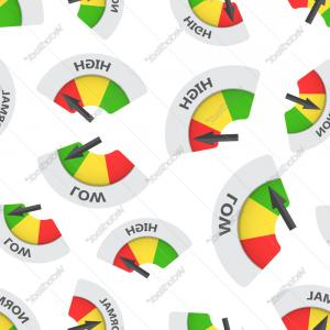 Low High Meter Vector: Stock Image Low Moderate High Rating Meter Illustration Image