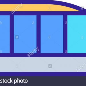 Bullet Train Vector Line Clip Art: High Speed Train Line Icon Bullet Vector Illustration Eps Image