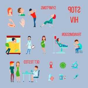 Picture Of HIV Virus Vector: Hiv Infection Aids Icon Set