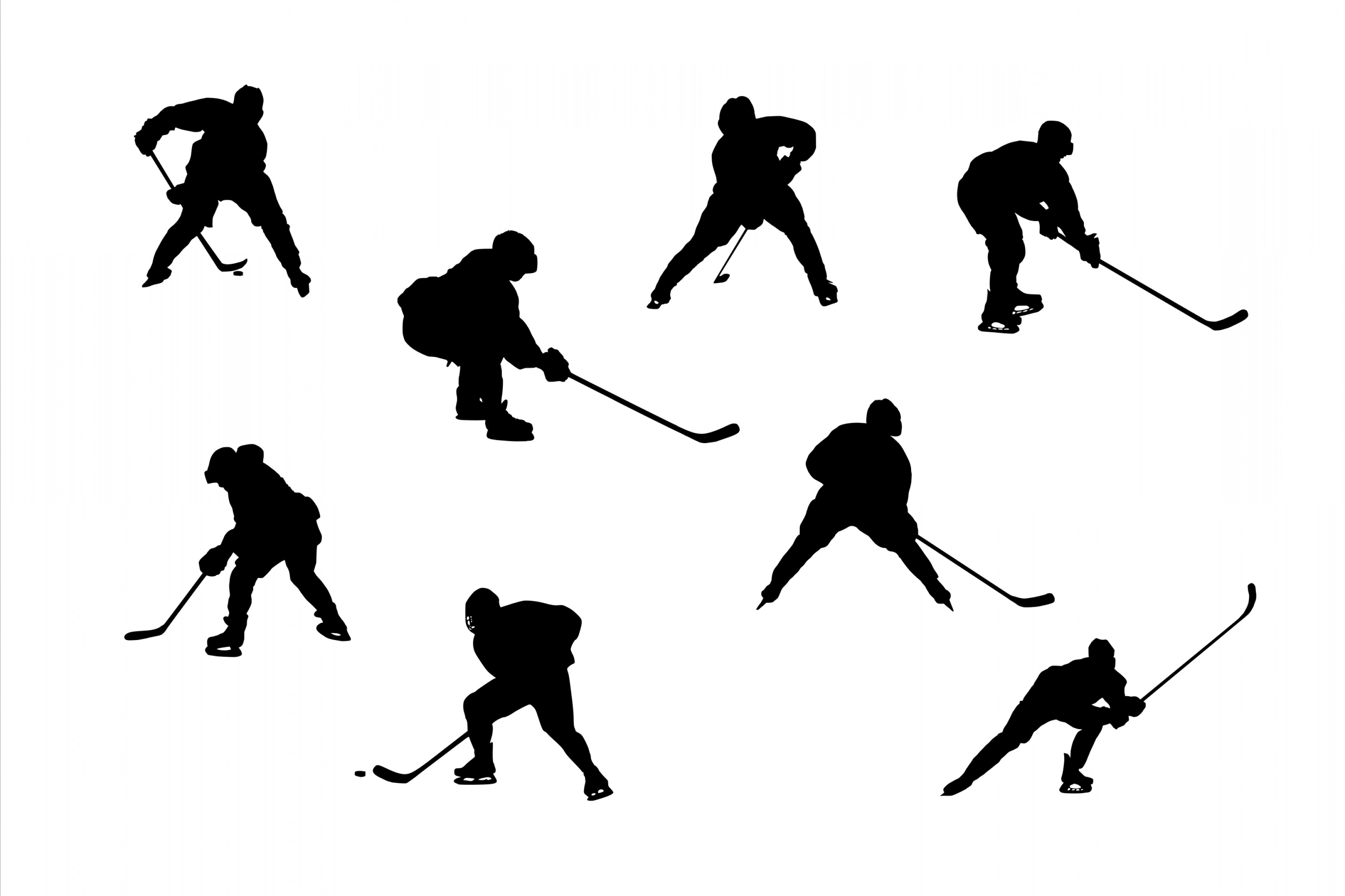 Transparent PNG Vector Skier: Hockey Player Silhouette Png Transparent