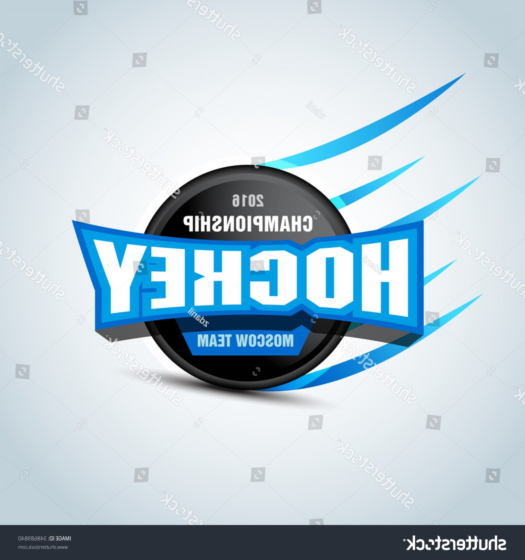 Hockey Teams Logo Vectors: Hockey Sport Team Logotype Template Logo