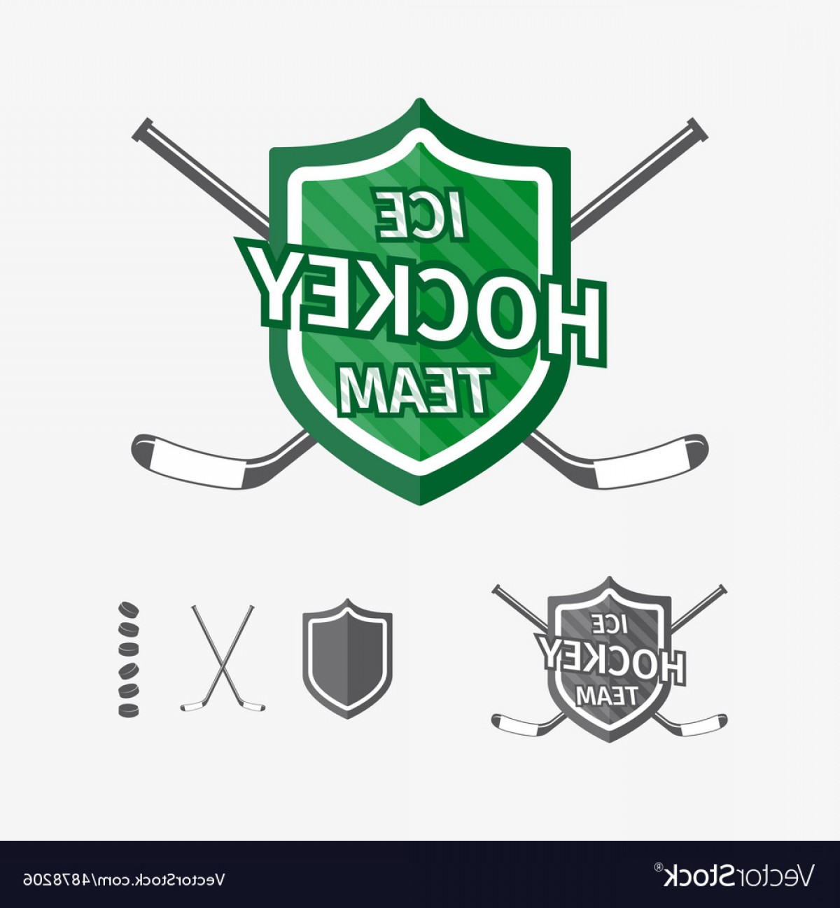 Hockey Teams Logo Vectors: Hockey Sports Emblems And Symbols For Team Logo Vector