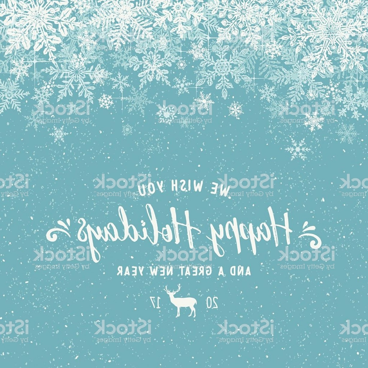 Snowflake Border Vector Art: Holiday Background With Layered Snowflake Border Gm