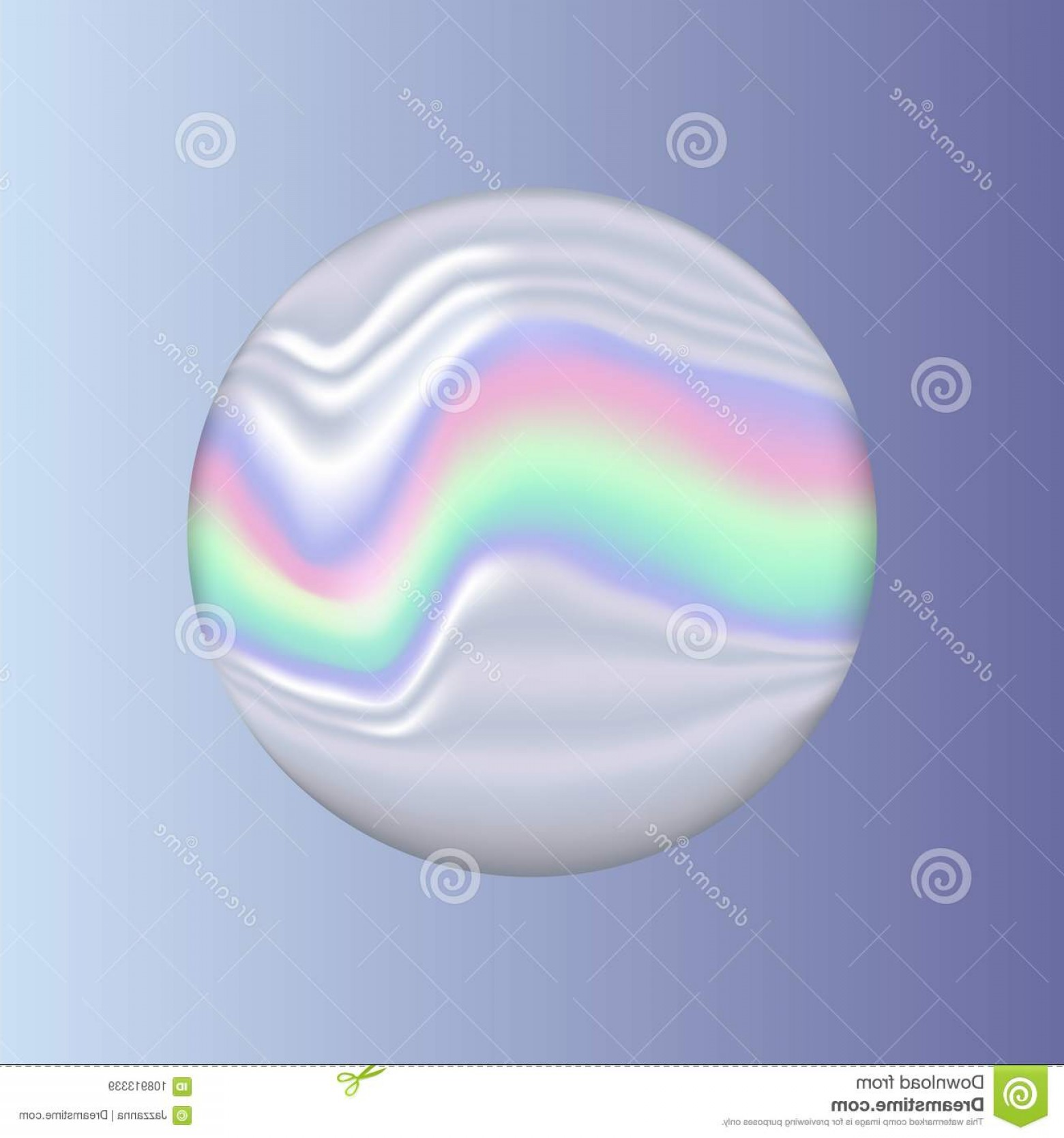 Vector Sphere Marble: Holographic Marble Sphere Object Vector Holographic Marble Sphere Object Image