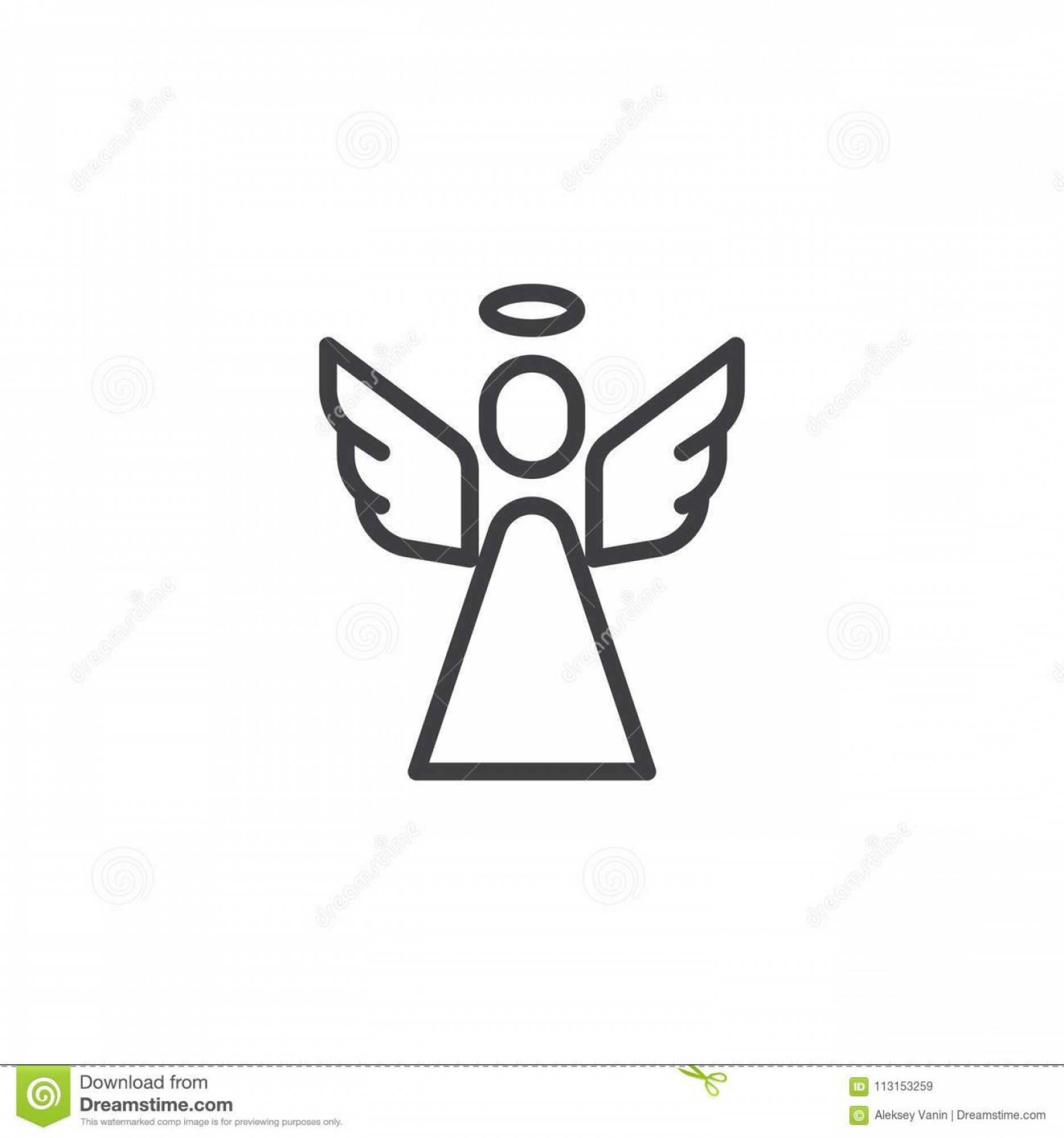 Mahi Mahi Outline Vector Images: Holy Angel Outline Icon Linear Style Sign Mobile Concept Web Design Religion Simple Line Vector Symbol Logo Illustration Image
