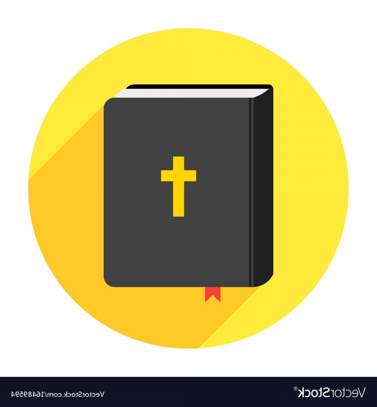 Holy Bible Vector: Holy Bible Book Icon Flat Vector