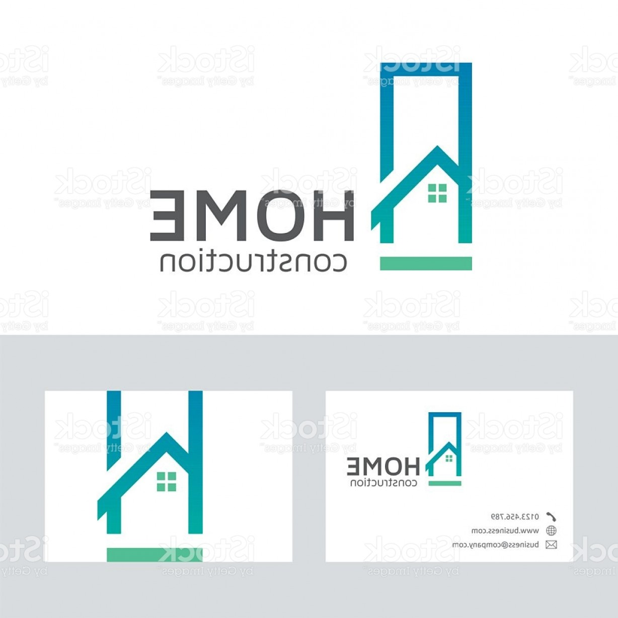 Home Construction Vector Logo With Business Card Template Gm ...