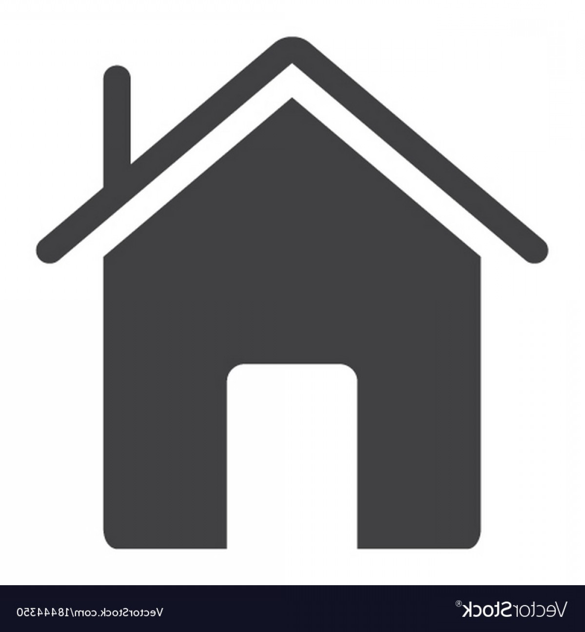 Vector House Sign: Home Glyph Icon Web And Mobile House Sign Vector