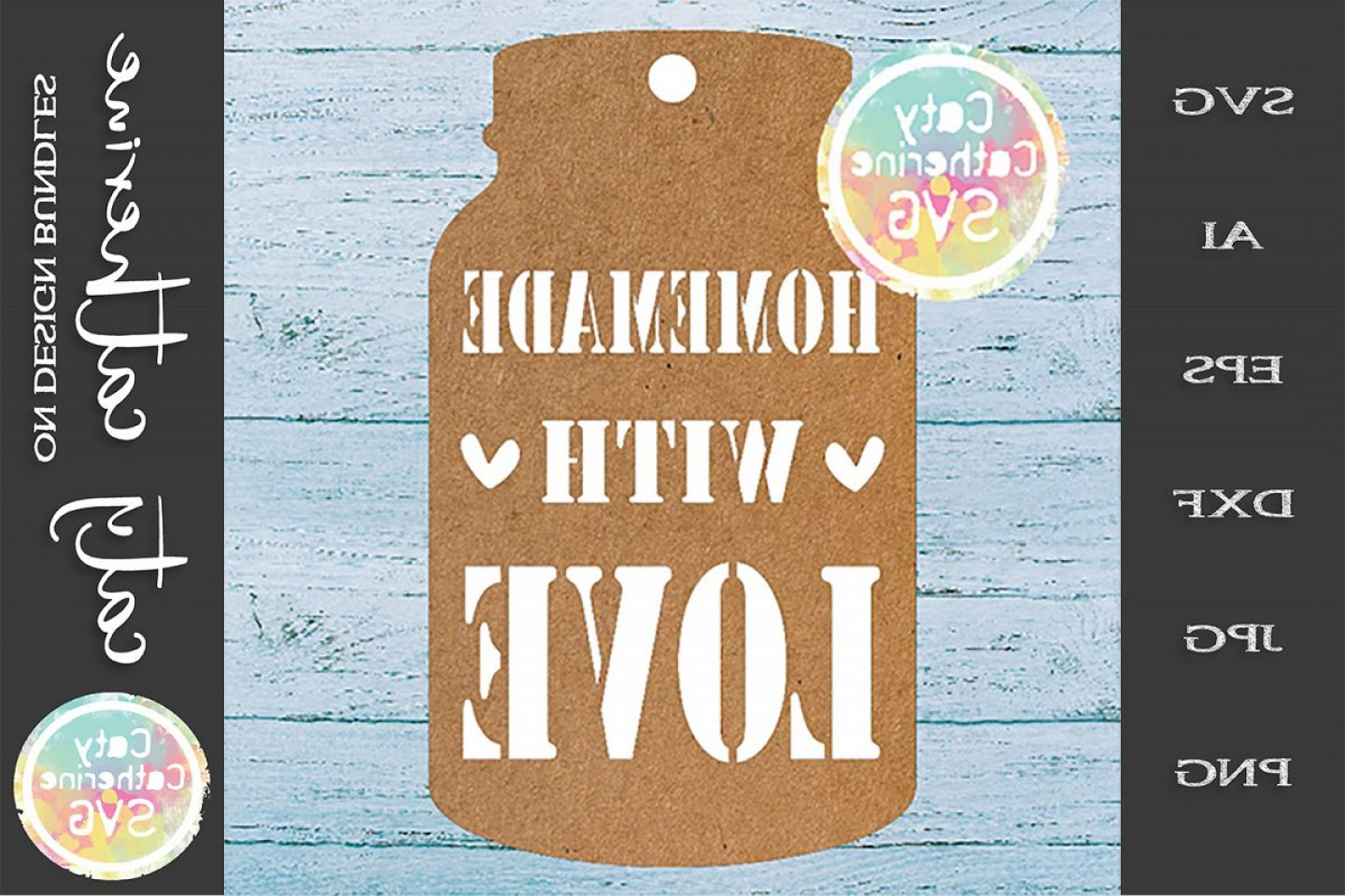 Love Infinity Symbol SVG Vector: Home Made Baking Gift Tag Svg Homemade With Love