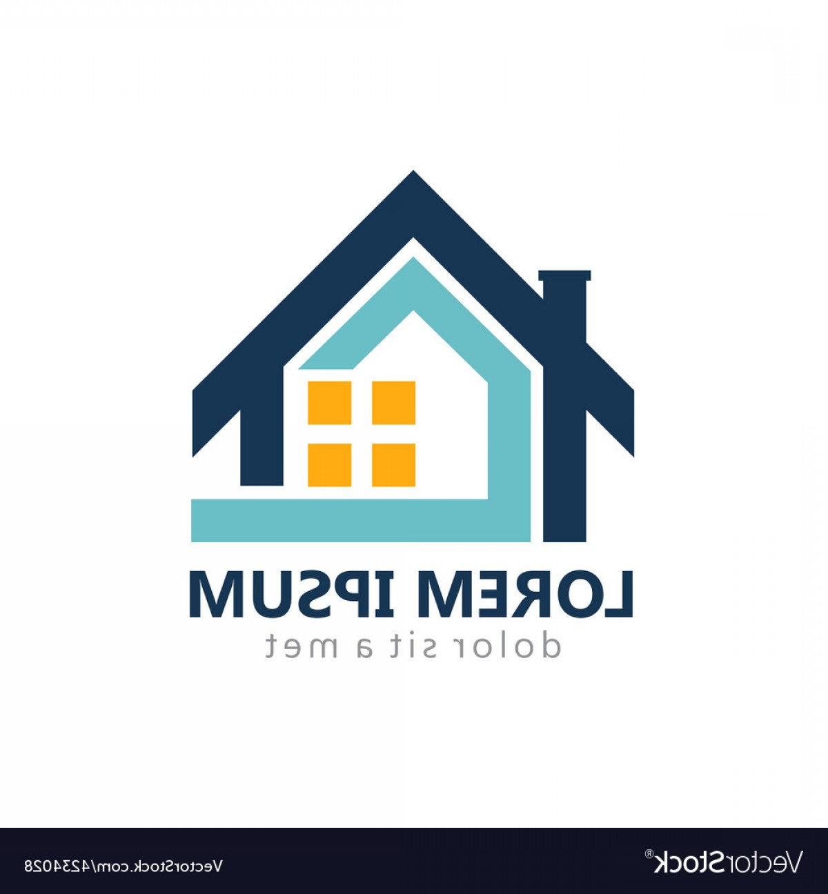 Home Logo Vector: Home Realty Construction Logo Vector