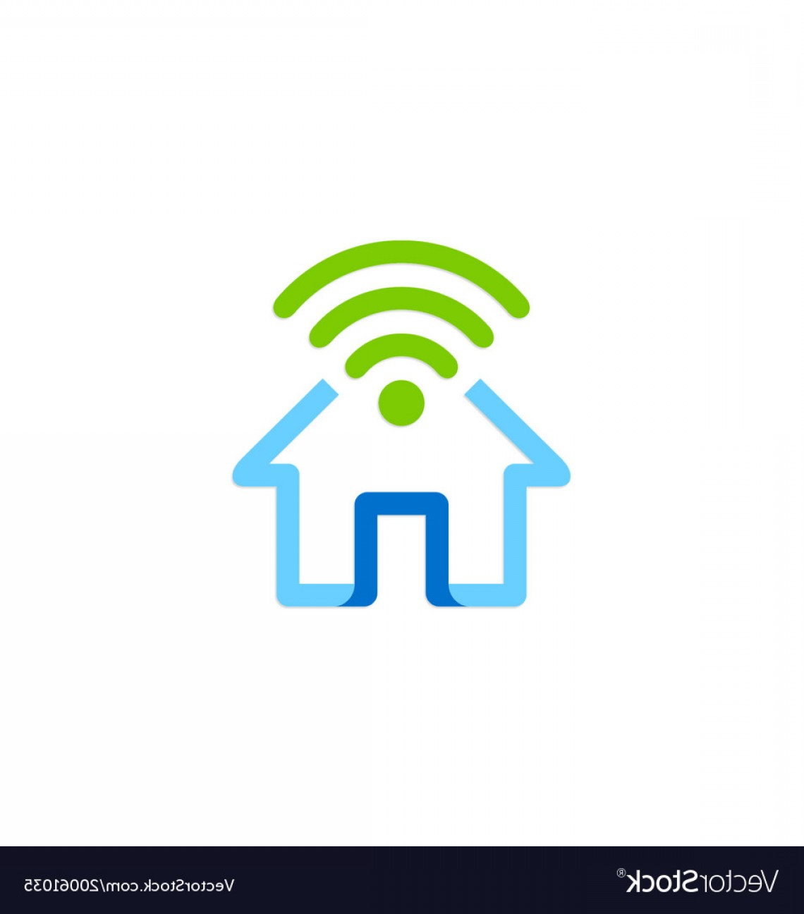 Home Logo Vector: Home Secure Wifi Logo Vector