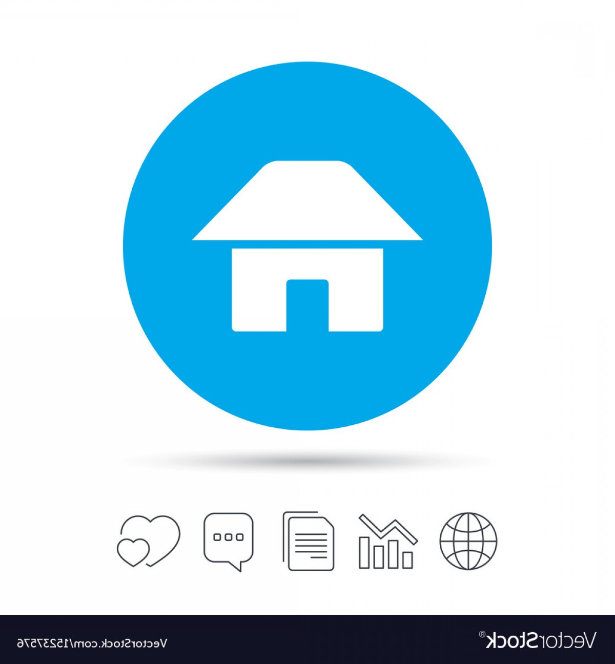 Navigation Vector: Home Sign Icon Main Page Button Navigation Vector