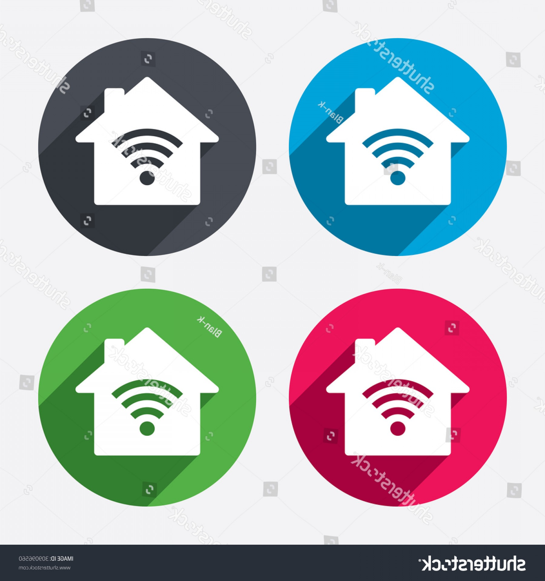 Wifi Symbol Clip Art Vector: Home Wifi Sign Symbol Wireless Network