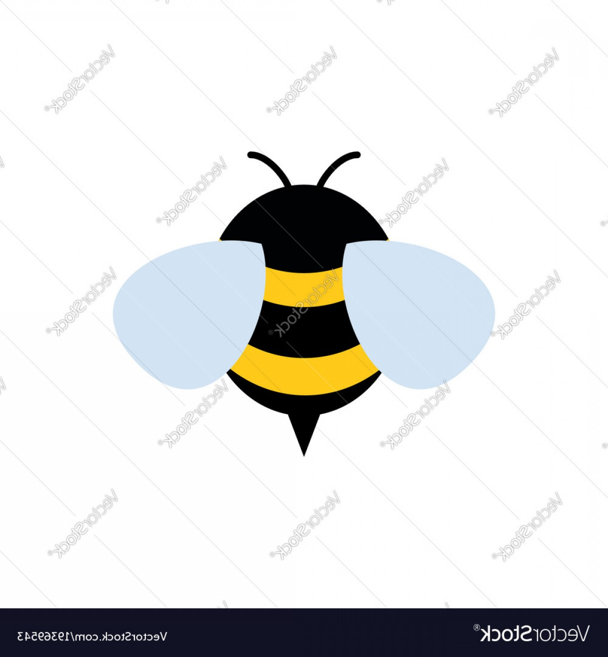 Vector Bee Icon: Honey And Bee Icon Honey Vector
