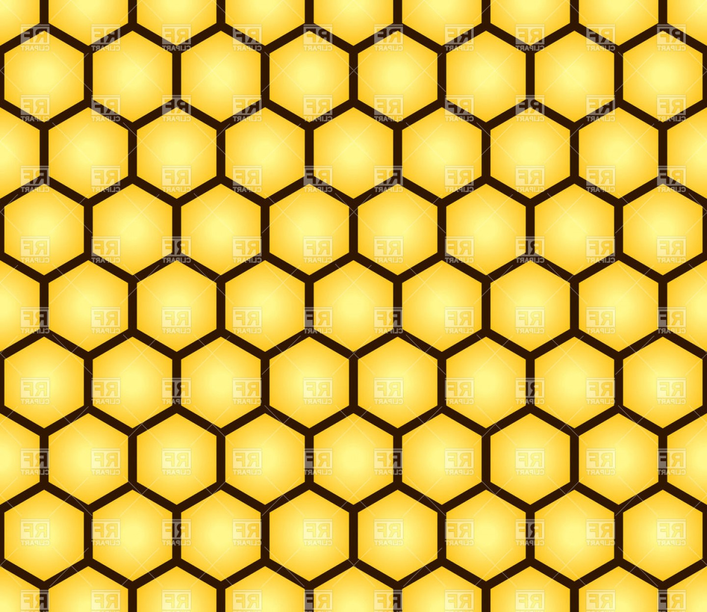 Honeycomb Background Pattern Vector: Honeycomb Seamless Pattern Vector Clipart