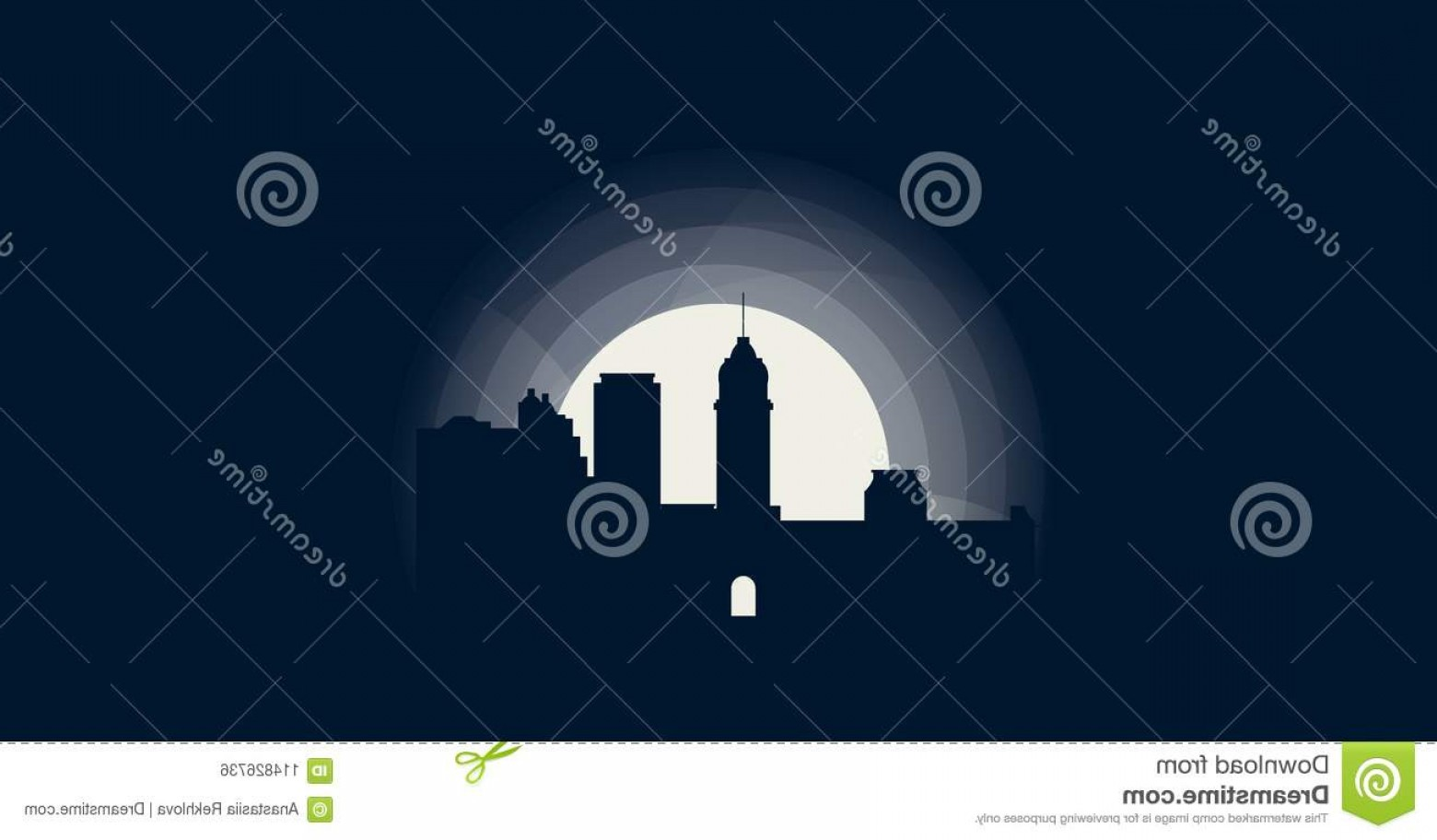 City Of Honolulu At Night Vector: Honolulu City Skyline Silhouette Vector Logo Illustration Usa United States America Landscape Night Icon Cool Urban Horizon Image