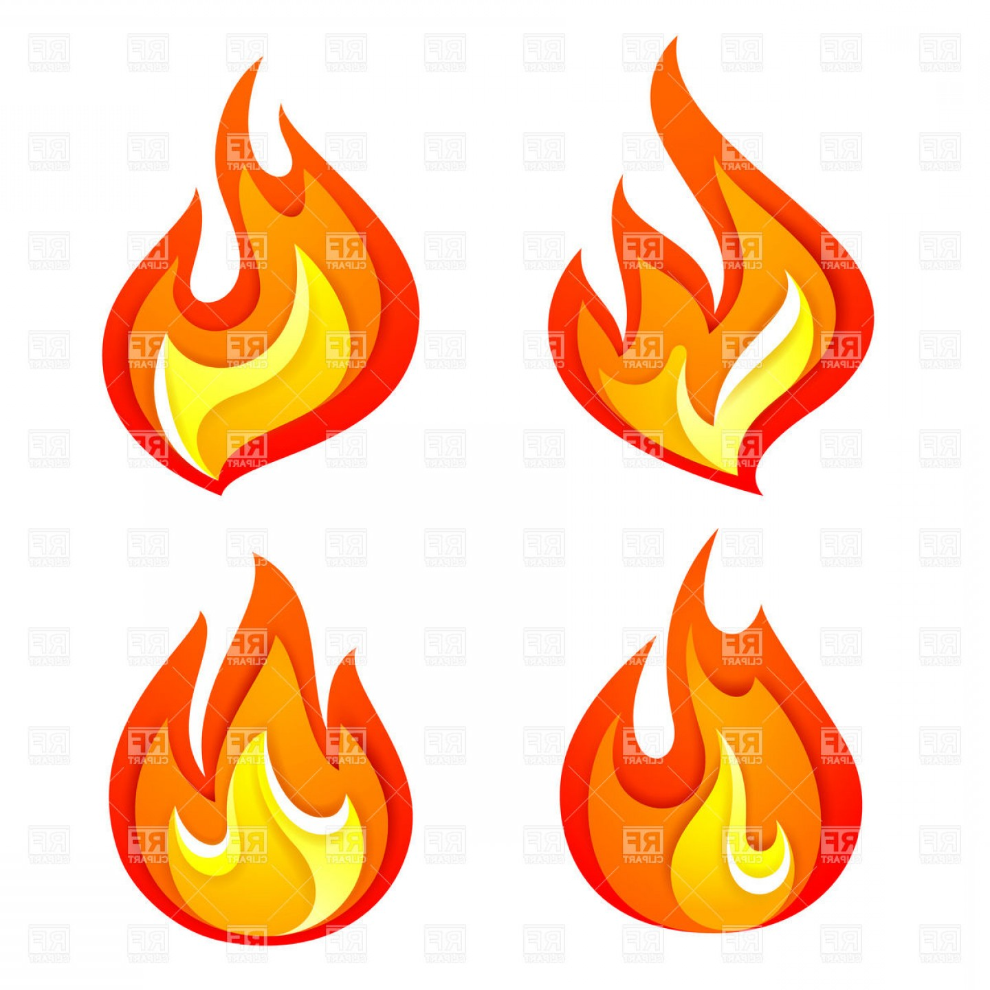Fire Clip Art Vector: Hot Deal Icon Simple Symbolic Fire Or Flame Vector Clipart