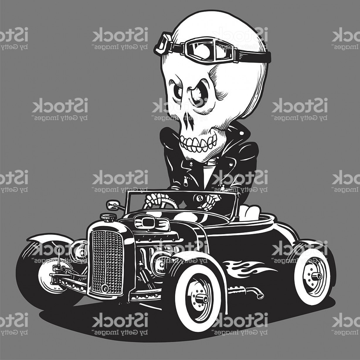 Vector Hot Rod Engines: Hot Rod King Of The Road Gm