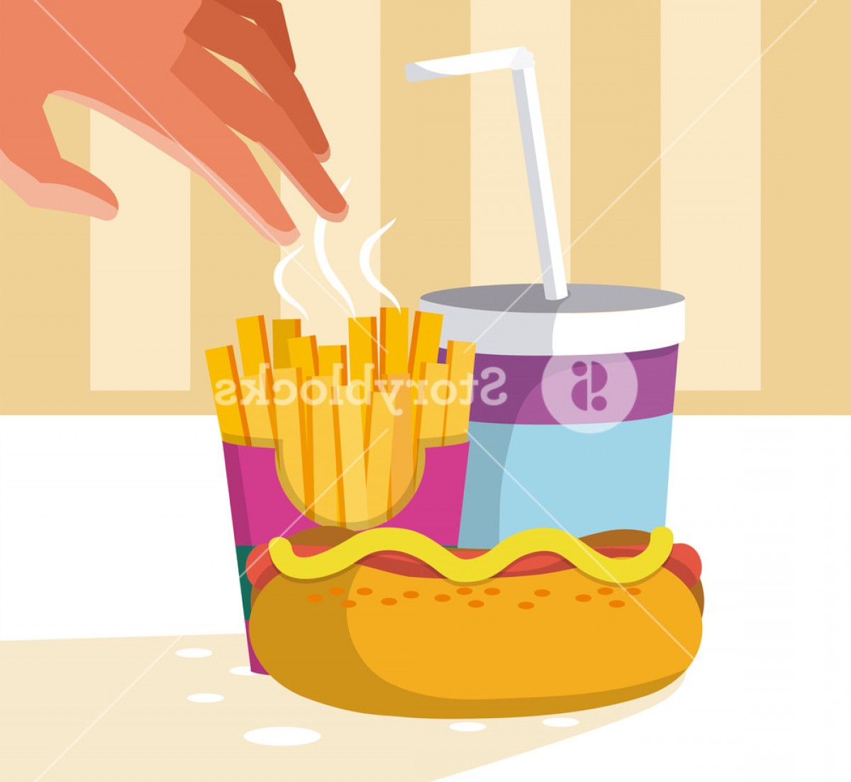 Fries Vector: Hotd Dog And French Fries Vector Illustration Graphic Design Sweppcntgjfgcjej