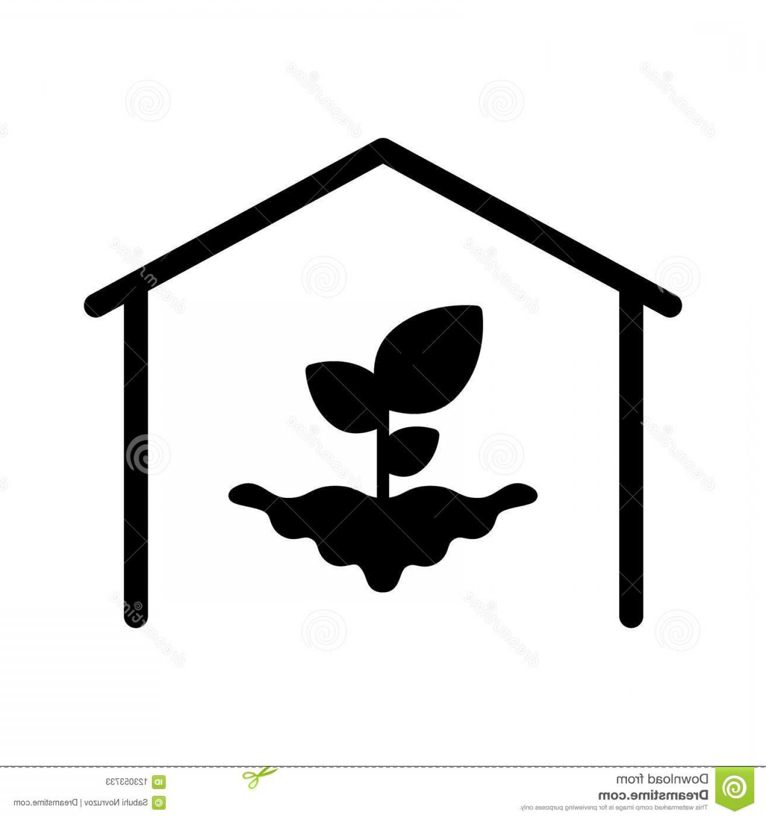 Black And White Vector Greenhouse: Hothouse Plant Solid Icon Vector Illustration Isolated White Glyph Style Design Designed Web App Eps Greenhouse Plant Image